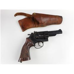 CROSMAN MODEL 38C .177 CAL PELLET GUN WITH LEATHER HOLSTER