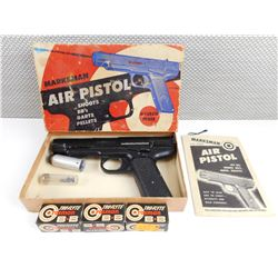 MARKSMAN AIR PISTOL .177 CAL, IN ORIGINAL BOX WITH MAUNAL. AND BB'S