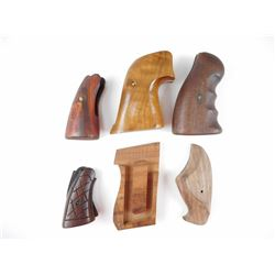 ASSORTED WOODEN HANDGUN GRIPS