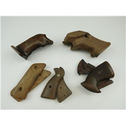 ASSORTED WOODEN HAND GUN GRIPS