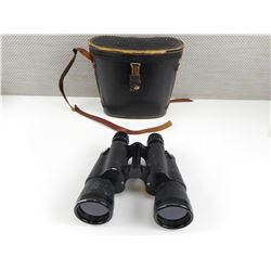 CARL WETZLAR 10X50 BINOCULARS IN BLACK LEATHER CASE