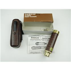 TASCO 25 POWER POCKET TELESCOPE, IN ORIGINAL BOX