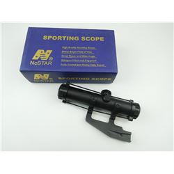 NCSTAR 4X22WA SPORTING SCOPE WITH BIKINI LENS CAP, AND MOUNTING BRACKET. IN ORIGINAL BOX
