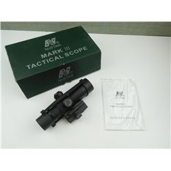 NCSTAR MARK III 4X32 TACTICAL SCOPE IN ORIGINAL BOX.