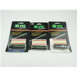 HI VIZ PLAIN BARREL SHOTGUN SIGHTS NEW IN PACKAGES.
