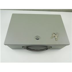 METAL LOCK BOX WITH KEYS
