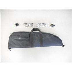 SOFT GUN CASE, TRIGGER LOCK AND SAFTEY GLASSES