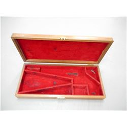 WOODEN HAND GUN CASE WITH KEY