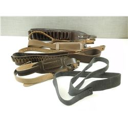 ASSORTED AMMO BELTS AND SLINGS