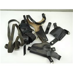 ASSORTED LEATHER HOLSTERS & SLING