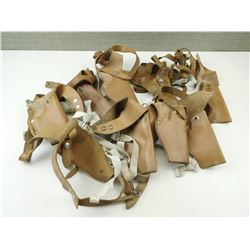 ASSORTED BROWN LEATHER SHOULDER HOLSTERS