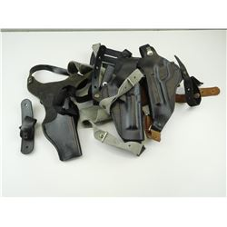 ASSORTED LEATHER SHOULDER HOLSTERS