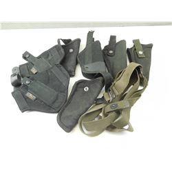 ASSORTED NYLON HOLSTERS WITH SLINGS