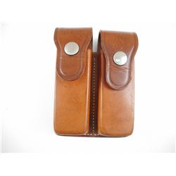 BROWN LEATHER MAGAZINE BIANCHI HOLSTER
