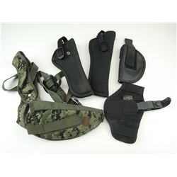 ASSORTED CANVAS HOLSTERS