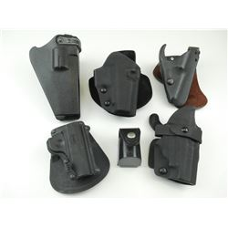 ASSORTED BLACK HOLSTERS