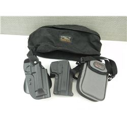 ASSORTED HOLSTERS AND POUCHES