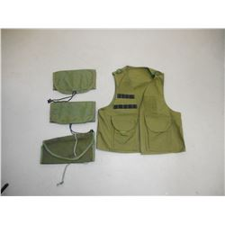 ASSORTED POUCHES AND VEST