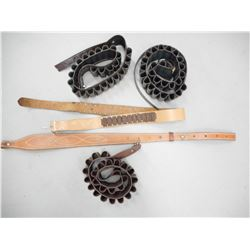 ASSORTED AMMO BELTS AND SLING