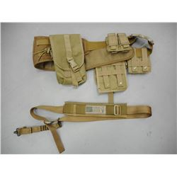 TACTICAL TYPE AMMO AND MAGAZINE BELT, AND SLING