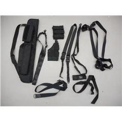 TACTICAL TYPE AMMO BELT, SLINGS AND MAGAZINE POUCHES