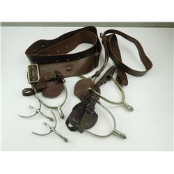 ASSORTED SPURS AND BELTS