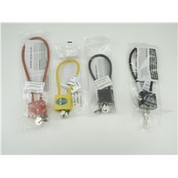 ASSORTED CABLE LOCKS WITH KEYS