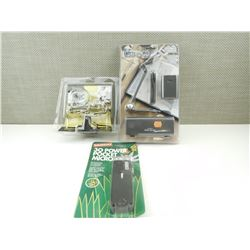 ASSORTED MICROSCOPES, MAGNIFYING GLASSES, AND LIGHT APPEAR NEW IN PACKAGES