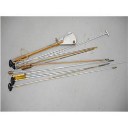 ASSORTED CLEANING RODS AND VINTAGE SKEET THROWER