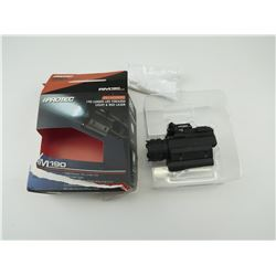 IPROTEC 190 LUMEN LED FIREARM LIGHT & LASER IN DAMAGED BOX