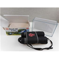 BINOX HD DAY & NIGHT 4-16X BINOCULARS IN BOX. AND PLASTIC CASE