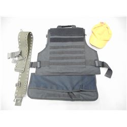 TACTICAL VEST, HAT AND TACTICAL TYPE BELT