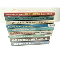 ASSORTED FIREARM DIGEST & SHOOTER'S BIBLE BOOKS