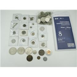 ASSORTED COINS AND BURIED BRONZE