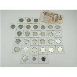 CANADIAN SILVER COINS AND 2 DOLLAR BILLS