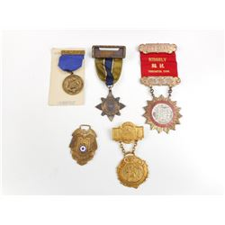 ASSORTED AMERICAN LODGE MEDALS