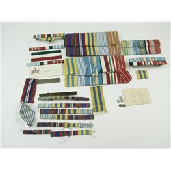 WWII AND POST WORLD WAR RIBBONS AND RIBBON BARS