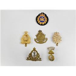 ASSORTED CANADIAN CAP BADGES