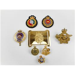 ASSORTED CAP AND COLLAR BADGES