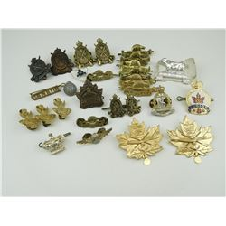ASSORTED CANADIAN MILITARY CAP BADGES