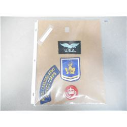 ASSORTED MILITARY CLOTH INSIGNIAS