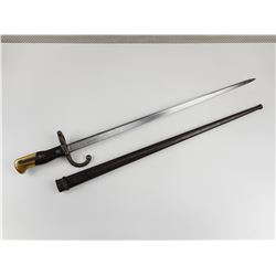 FRENCH MODEL 1874 BAYONET WITH MATCHING SCABBARD