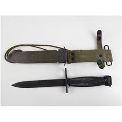 KM TYPE BAYONET WITH SCABBARD AND FROG