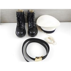 CADETS HAT, BOOTS AND BELT