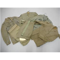 ASSORTED MILITARY COATS AND PANTS