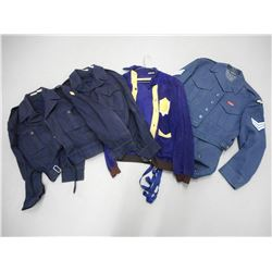 ASSORTED CANADIAN MILITARY UNIFORMS AND COATS