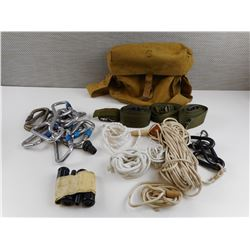 CANADIAN MILITARY SIGNALS SATCHEL WITH POST WAR ITEMS