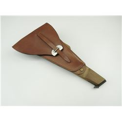 REPRODUCTION BROWNING SHOULDER STOCK AND LEATHER HOLSTER
