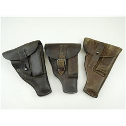 MILITARY TYPE PEBBLED LEATHER HOLSTERS