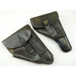 MILITARY TYPE LEATHER HOLSTERS